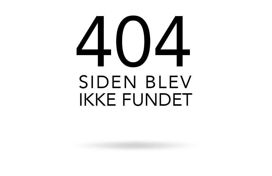 404 siden blev ikke fundet